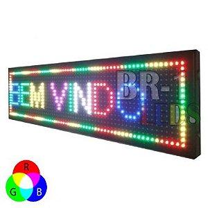 PAINEL DE LED P13.33 RGB 7 CORES 2.00mts x 0.40cm