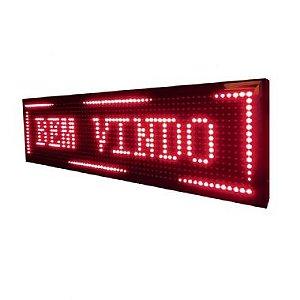 Painel De LED  2mts x 40cm VERMELHO