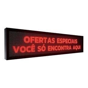 Painel De LED  P10 INTERNO 2mts x 40cm VERMELHO