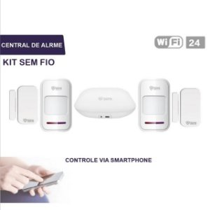 Kit Central Alarme 100% aplicativo SMARTPHONE - IOS  e ANDROID (WIFI 24HS)