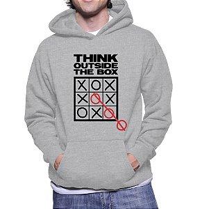 Moletom Masculino Pense Fora Da Caixa Nerd Geek Frase Inteligente Criativa -  Moletons Personalizados Blusa/ Casacos Baratos/ Blusão/ Jaqueta Canguru
