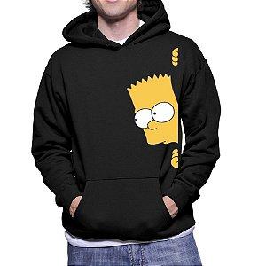 Moletom Masculino Bart Simpsons Séries Seriados - Moletons Personalizados Blusa/ Casacos Baratos/ Blusão/ Jaqueta Canguru