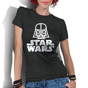 Camiseta Feminina Star Wars Darth Vader Filmes - Personalizadas/ Customizadas/ Estampadas/ Camiseteria/ Estamparia/ Estampar/ Personalizar/ Customizar/ Criar/ Camisa Blusas Baratas Modelos Legais Loja Online