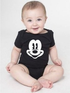 Body Bebê Mickey Mouse - Roupinhas Macacão Infantil Bodies Roupa Manga Curta Menino Menina Personalizados