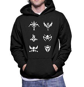 Moletom Masculino League Of Legends Lol Simbolos - Moletons Personalizados Blusa/ Casacos Baratos/ Blusão/ Jaqueta Canguru