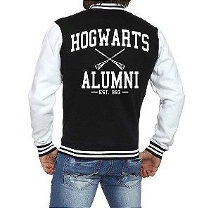Jaqueta College Masculina Harry Potter Casaco Moletom   - Jaquetas Colegial/ Americana/ Universitária/ Baseball/ de Frio/ Preto e Branco/ Personalizadas/ Blusas/ Casacos/ Blusão Baratos