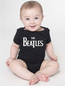 Body Bebê Banda Rock The Beatles Divertidos - Roupinhas Macacão Infantil Bodies Roupa Manga Curta Menino Menina Personalizados
