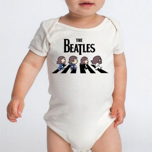 Body Bebê Bandas de Rock The Beatles- Roupinhas Macacão Infantil Bodies Roupa Manga Curta Menino Menina Personalizados