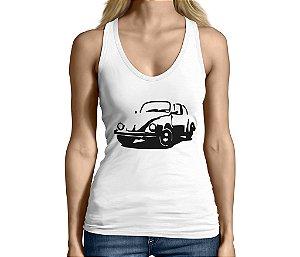 Camiseta Regata Feminina Carro Clássico Fusca - Personalizadas/ Customizadas/ Camiseteria/ Camisa T-shirts Baratas Modelos Legais Loja Online