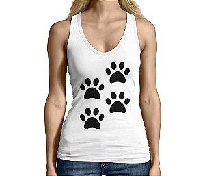 Camiseta Regata Feminina Lover Pet 4 Patas Engraçadas Divertidas  - Personalizadas/ Customizadas/ Camiseteria/ Camisa T-shirts Baratas Modelos Legais Loja Online
