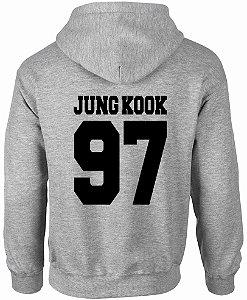 Moletom Masculino BTS Bangtan Boys Kpop Jin Suga J-Hope Suga V Rap Monster Jimin Jungkook  Nova Logo BTS - Moletons Personalizados Blusa/ Casacos Baratos/ Blusão/ Jaqueta Canguru