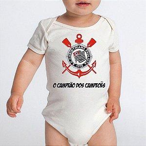 Body Bebê Time de Futebol Corinthians Campeão - Roupinhas Macacão Infantil Bodies Roupa Manga Curta Menino Menina Personalizados