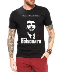 Camiseta Masculina Bolsonaro - Personalizadas/ Customizadas/ Estampadas/ Camiseteria/ Estamparia/ Estampar/ Personalizar/ Customizar/ Criar/ Camisa Blusas Baratas Modelos Legais Loja Online