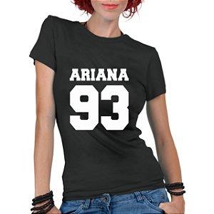 Camiseta Feminina Ariana Grande Colegial 93 - Personalizadas/ Customizadas/ Estampadas/ Camiseteria/ Estamparia/ Estampar/ Personalizar/ Customizar/ Criar/ Camisa Blusas Baratas Modelos Legais Loja Online
