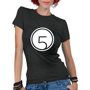Camiseta Feminina Fifth Harmony Banda Harmonizer Logo Integrantes - Personalizadas/ Customizadas/ Estampadas/ Camiseteria/ Estamparia/ Estampar/ Personalizar/ Customizar/ Criar/ Camisa Blusas Baratas Modelos Legais Loja Online
