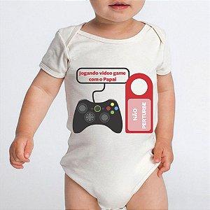Body Bebe Frases Papai Engraçadas Games - Roupinhas Macacão Infantil Bodies Roupa Manga Curta Menino Menina Personalizados