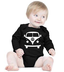 Body Bebê Kombi Carro Antigo - Roupinhas Macacão Infantil Bodies Roupa Manga Longa Menino Menina Personalizados