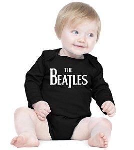 Body Bebe Rock The Beatles Banda - Roupinhas Macacão Infantil Bodies Roupa Manga Longa Menino Menina Personalizados