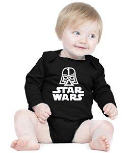 Body Bebê Star Wars Darth Vader Nerd - Roupinhas Macacão Infantil Bodies Roupa Manga Longa Menino Menina Personalizados