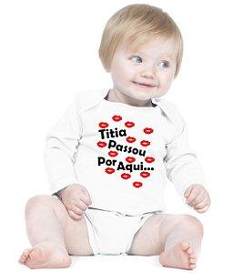 Body Bebê Frases Engraçadas e Divertidas Dinda Titia - Roupinhas Macacão Infantil Bodies Roupa Manga Longa Menino Menina Personalizados