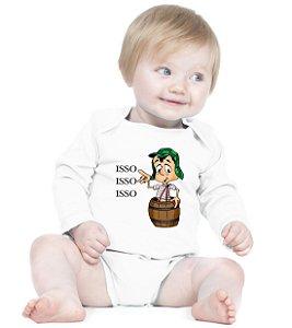 Body Bebê Frases Engraçadas Chaves Chapolin Seriados - Roupinhas Macacão Infantil Bodies Roupa Manga Longa Menino Menina Personalizados