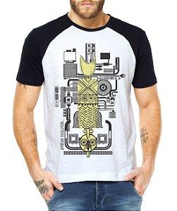 Camiseta Raglan Africa e Tecnologia - Personalizadas/ Customizadas/ Estampadas/ Camiseteria/ Estamparia/ Estampar/ Personalizar/ Customizar/ Criar/ Camisa Blusas Baratas Modelos Legais Loja Online
