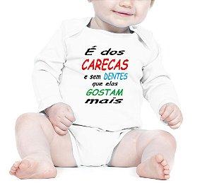 Body Bebê Frases Engraçadas e Divertidas Carecas que elas gostam mais - Roupinhas Macacão Infantil Bodies Roupa Manga Longa Menino Menina Personalizados