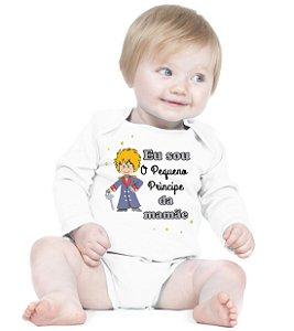 Body Bebê Frases Engraçadas Pequeno Principe Amor de Fã Branco - Roupinhas Macacão Infantil Bodies Roupa Manga Longa Menino Menina Personalizados