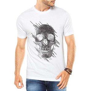 Camiseta Masculina Caveira Estilizada - Personalizadas/ Customizadas/ Estampadas/ Camiseteria/ Estamparia/ Estampar/ Personalizar/ Customizar/ Criar/ Camisa Blusas Baratas Modelos Legais Loja Online