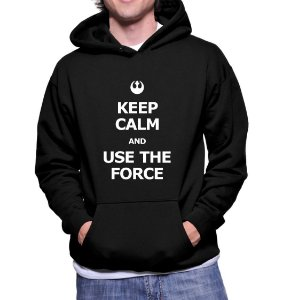 Moletom Casaco Star Wars Keep Calm and Use the Force Canguru Masculino -  Moletons Personalizados Blusa/ Casacos Baratos/ Blusão/ Jaqueta Canguru