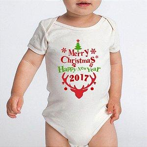 Body Bebe Frases Engraçadas Natal Merry Christmas Branco Manga Curta - Roupinhas Macacão Infantil Bodies Roupa Manga Curta Menino Menina Personalizados