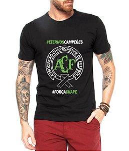 Camiseta Masculina Homenagem Time Chapecoense Força Chape Luto - Personalizadas/ Customizadas/ Estampadas/ Camiseteria/ Estamparia/ Estampar/ Personalizar/ Customizar/ Criar/ Camisa Blusas Baratas Modelos Legais Loja Online