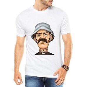 Camiseta Masculina Seu Madruga Tatuado - Personalizadas/ Customizadas/ Estampadas/ Camiseteria/ Estamparia/ Estampar/ Personalizar/ Customizar/ Criar/ Camisa Blusas Baratas Modelos Legais Loja Online