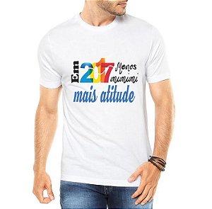 Camiseta Masculina Ano Novo 2017 Réveillon Menos Mimimi Branca - Personalizadas/ Customizadas/ Estampadas/ Camiseteria/ Estamparia/ Estampar/ Personalizar/ Customizar/ Criar/ Camisa Blusas Baratas Modelos Legais Loja Online