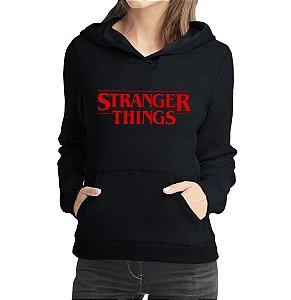 Moletom Feminino Stranger Things Seriado - Moletons Personalizados Blusa/ Casacos Baratos/ Blusão/ Jaqueta Canguru