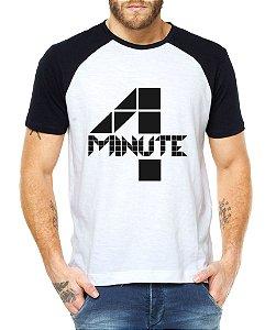 Camiseta Masculina Kpop Banda 4 Four Minute Blusa Raglan - Estampadas Camisa Blusas Baratas Modelos Legais Loja Online