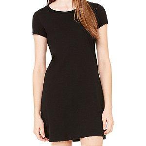 Vestido Curto da Moda Feminino Liso - Simples para o Dia a Dia Básico de Malha Estampado Modelos Lindos e Baratos em Preto e Cinza Verão Comprar Loja Online Site Promoção Vestidos Casuais
