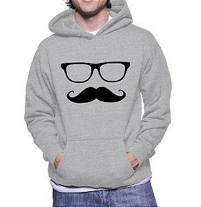 Casaco Mustache Engraçados Divertidos Moletom Masculino - Moletons Personalizados Blusa/ Casacos Baratos/ Blusão/ Jaqueta Canguru/ Blusa de Frio