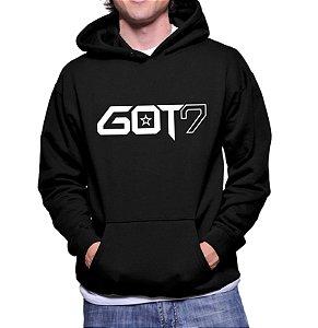 Moletom Masculino Kpop Banda GOT7 K-pop - Moletons Blusa de Frio Casacos Baratos Blusão Canguru Loja Online