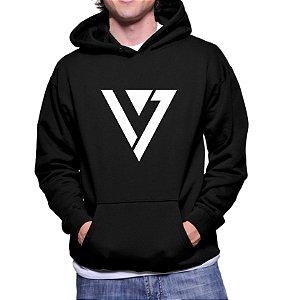Moletom Masculino Kpop Banda Seven Teen K-pop - Moletons Blusa de Frio Casacos Baratos Blusão Canguru Loja Online