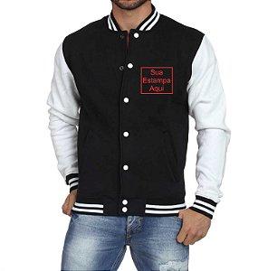 Jaqueta College Masculina Personalizada Americana Colegial - Blusas Casacos Moletons Personalizados Customizadas