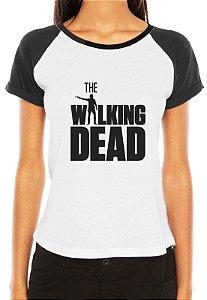 Camiseta Feminina Seriado The Walking Dead Séries Raglan - Personalizadas/ Customizadas/ Estampadas/ Camiseteria/ Estamparia/ Estampar/ Personalizar/ Customizar/ Criar/ Camisa Blusas Baratas Modelos Legais Loja Online