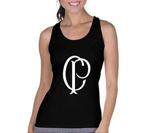 Camiseta Regata Feminina Time Corinthians- Personalizadas/ Customizadas/ Camiseteria/ Camisa T-shirts Baratas Modelos Legais Loja Online
