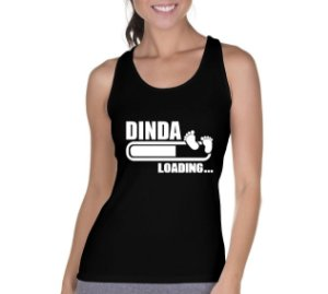 Camiseta Regata Feminina Dinda Loading - Personalizadas/ Customizadas/ Camiseteria/ Camisa T-shirts Baratas Modelos Legais Loja Online