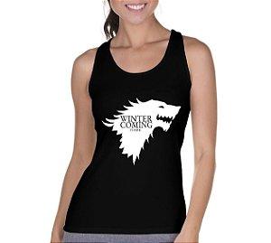 Camiseta Regata Feminina Game Of Thrones Série Seriado - Personalizadas/ Customizadas/ Camiseteria/ Camisa T-shirts Baratas Modelos Legais Loja Online