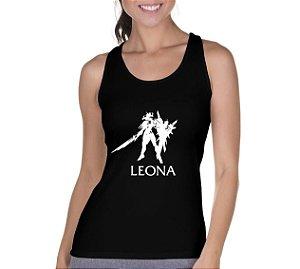 Camiseta Regata Feminina Leona League of Legends Preta  - Personalizadas/ Customizadas/ Camiseteria/ Camisa T-shirts Baratas Modelos Legais Loja Online