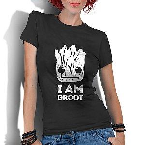 Camiseta Feminina Guardiões da Galáxia Groot Super Heróis  - Personalizadas/ Customizadas/ Estampadas/ Camiseteria/ Estamparia/ Estampar/ Personalizar/ Customizar/ Criar/ Camisa Blusas Baratas Modelos Legais Loja Online/ Bebê