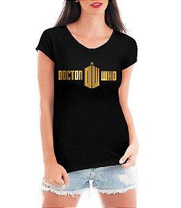 Camiseta Blusa Doctor Who Feminina Séries Seriado - Personalizadas/ Customizadas/ Estampadas/ Camiseteria/ Estamparia/ Estampar/ Personalizar/ Customizar/ Criar/ Camisa Blusas Baratas Modelos Legais Loja Online