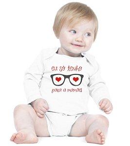 Body Bebe Banda Frases Engraçadas Divertidas Só Tenho Olhos Para Mamãe  - Roupinhas Macacão Infantil Bodies Roupa Manga Longa Menino Menina Personalizados