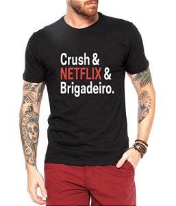Camiseta Masculina Chusch NetFlix Brigadeiro Filmes - Personalizadas/ Customizadas/ Estampadas/ Camiseteria/ Estamparia/ Estampar/ Personalizar/ Customizar/ Criar/ Camisa Blusas Baratas Modelos Legais Loja Online